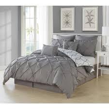 duck river esy pintuck reversible grey 8 comforter set
