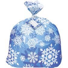 jumbo plastic winter snowflake gift bag walmart