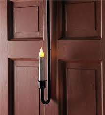 Outdoor Timer For Lights by Over The Door Led Candle Holiday Lighting Plow U0026 Hearth