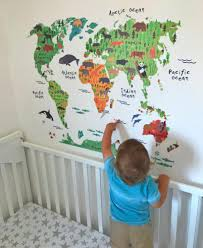 kids world map decal add more animals here