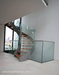 escalier garde corps verre escalier et garde corps en verre bombé