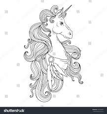 fairytale vector unicorn hand drawing unicorn stock vector