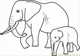 elephant family coloring pages coloring