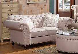 Beige Tufted Sofa by Traditional Sweetheart Button Tufted Loveseat In Beige Linen