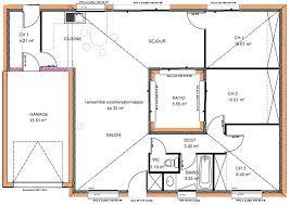 plan maison contemporaine plain pied 3 chambres plan maison contemporaine plain pied plan maison moderne plain pied