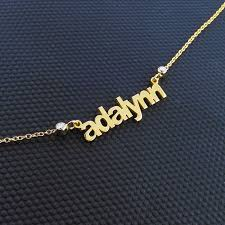 14kt Gold Name Necklace Four Name Necklace 14k Gold Name Necklace Multiple Name