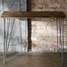 wood and metal sofa table reclaimed wood console table modern recycled furniture sofa table