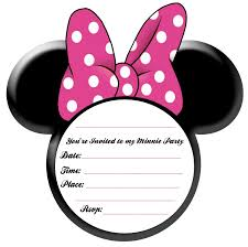 minnie mouse birthday invitation templates free christmanista com