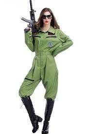 jumpsuit costume army green flight suit pilot jumpsuit costume