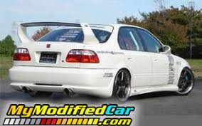 2000 honda civic spoiler honda civic 2000 rear side with spoiler mymodifiedcar com