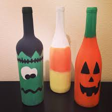 repurposed wine bottles as halloween decorations holiday