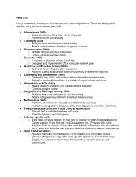 list of resume skills skills for resume list army franklinfire co
