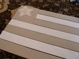 flag made from window blind slats drop cloth and canvas