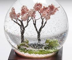 blossom tree snow globe
