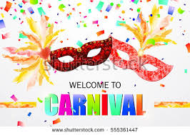 beautiful festive carnival mask feathers colorful stock vector