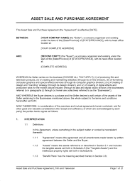 asset sale and purchase agreement film u0026 television template