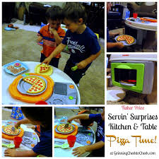 Fisher Price Servin Surprises Kitchen Table by Servin U0027 Surprises Kitchen U0026 Table Review Grinning Cheek To Cheek