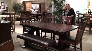 Trestle Dining Room Table by Hayden Rectangular Trestle Table Dining Room Set By Intercon Youtube