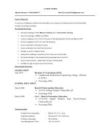 Best Resume Summaries by Resume Summary For Freshers Example 611