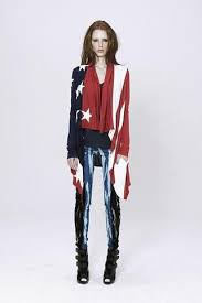 American Flag Cardigan Unconditional Aw16 Silk Crepe Soft Army Long Shirt Dress With Split Ta
