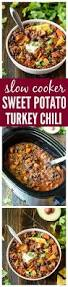 slow cooker turkey quinoa chili with sweet potatoes