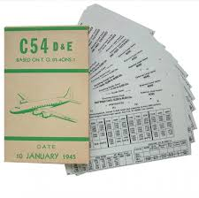 usaaf c 54 aircraft flight operation cards in ww2 usaaf manuals