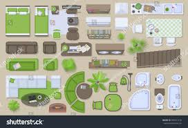 icons set interior top view isolated stock vector 499131310