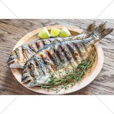 dorade cuisine grilled dorade royale fish gl stock images