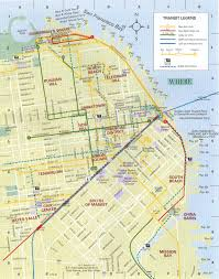 San Francisco Downtown Map by The Web Shell