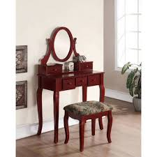 Vanity And Stool Set Roundhill Ashley Wood Make Up Vanity Table And Stool Set Multiple