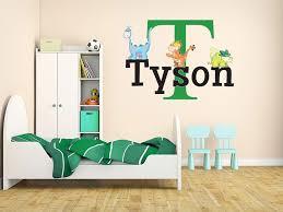 Dinosaur Nursery Decor T Rex Baby Dinosaur Name Monogram Wall Decal Nursery Room
