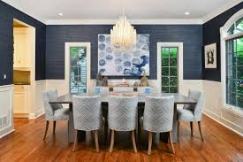 dining room paint color ideas golden chandelier ceiling light blue