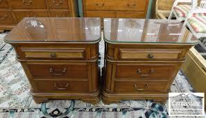 Cherry Nightstand With Drawers Pair Of Pulaski Cherry Nightstands Baltimore Maryland Furniture