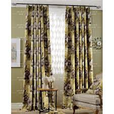 Shabby Chic Floral Curtains by Yellow Floral Polyester Country Shabby Chic Custom Waverly Curtains