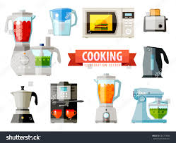 Toaster Oven Set Cooking Icons Set Elements Food Processor Stock Vector 281753804