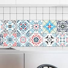 fliesen tapete küche 20 20 cm 10 stücke pvc bunte mosaik wasserdichte selbstklebende