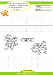Writing The Alphabet Worksheets Kids Under 7 Alphabet Worksheets Trace And Print Letter T