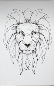 más de 25 bellas ideas sobre tatuaje geométrico de león en