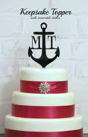 anchor wedding cake topper 44 best cake toppers images on tattooed wedding