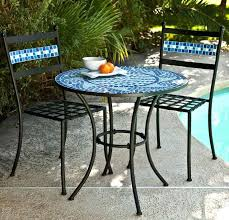 outdoor mosaic bistro table fresh mosaic table outdoor furniture or mosaic bistro set with black