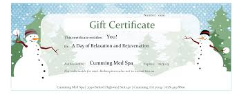 spa packages u0026 gift certificates med spa u0026 chiropractic