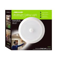 Motion Activated Indoor Ceiling Light Mr Beams Ultrabright 300 Lumen Indoor Outdoor Motion Sensor Led