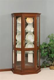 Corner Curio Cabinet Kit Solid Wood Curio Cabinet From Dutchcrafters Amish Furniture