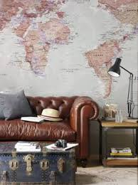 world map wallpaper mural 405x270cm blue wallpaper walls and fans