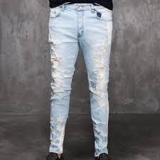 mens light blue jeans skinny mens sl destroyed light blue denim slim from fabrixquare buy it
