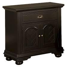 aiden cottage 1 drawer nightstand with cabinet door black picket