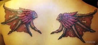 wing tattoos across the shoulders and back articles ratta