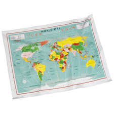 Vintage World Map by Vintage World Map Gift Boxed Tea Towel From Mollie U0026 Fred Uk