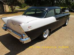 Chevy Muscle Cars - 1957 chevy 150 2 dr sedan black widow atlas muscle cars
