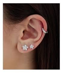 invisible earrings for school best 25 diamond flower ideas on wedding jewellery